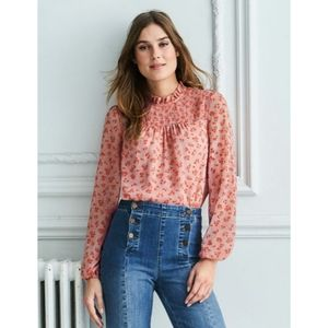 Boden Janie Top NWT in Chalky Pink Daisy Field